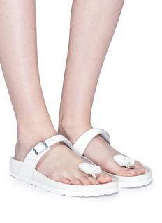 BIRKENSTOCK x Ms MIN Kaduna真皮夹脚拖鞋