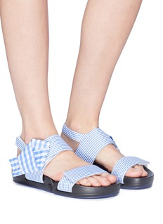 Figs By Figueroa 'Figulous' gingham check bow slingback sandals