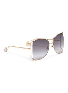 Gucci Cutout metal angular sunglasses