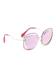 miu miu Cutout mirror square sunglasses