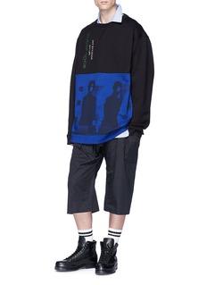 RAF SIMONS JOY DIVISION抽象印花oversize纯棉卫衣