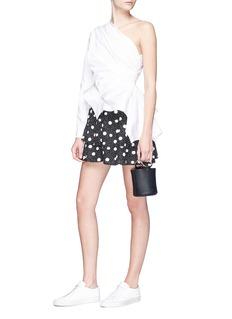 Topshop Polka dot print tiered jersey skirt