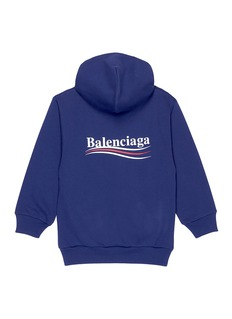Balenciaga Presidential logo print kids hoodie