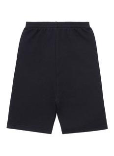 BALENCIAGA 儿童款品牌标志混棉短裤