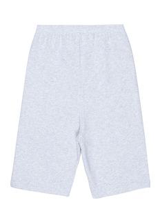 Balenciaga Presidential logo print kids sweat shorts