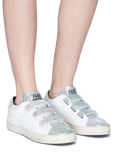 P448 'Ralph' colourblock cracked leather sneakers