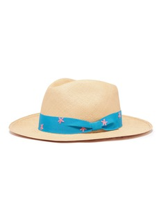 G.VITERI Starfish embroidered ribbon toquilla straw hat