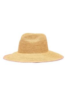 G.VITERI Toquilla straw capeline hat