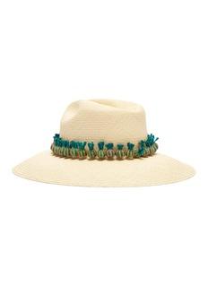 G.VITERI Pineapple pompom straw hat