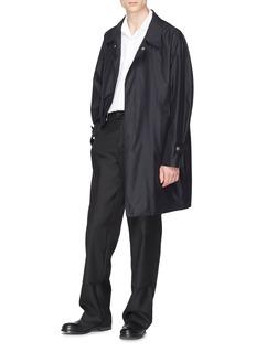 Mackintosh 按扣衣襟棉混丝大衣