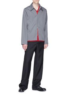 Mackintosh 0002 Straight leg wool pants