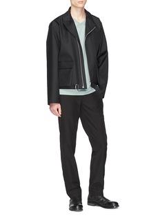 Mackintosh 0002 Snap button cuff wool-cotton pants