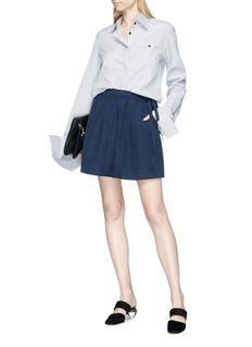 JW Anderson 'Lea' drawstring linen-silk boxer shorts