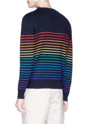 - JW Anderson - Rainbow stripe intarsia wool unisex sweater