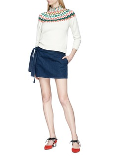 JW Anderson 'Lea' sash tie mini denim skirt