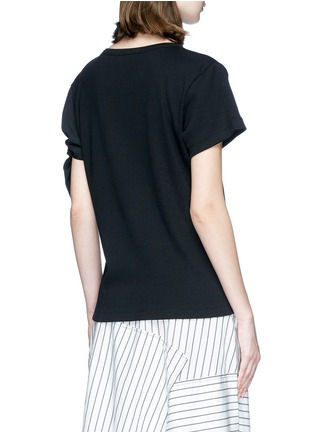 Back View - Click To Enlarge - JW Anderson - Asymmetric knot sleeve T-shirt