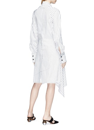 Back View - Click To Enlarge - JW Anderson - Stripe patchwork shirt dress