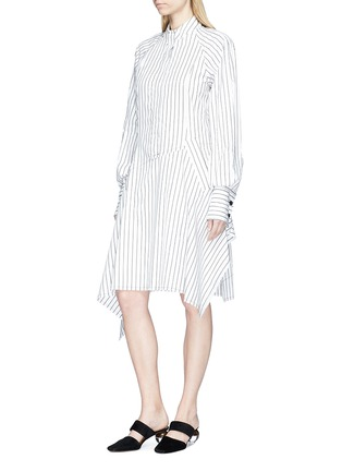 Front View - Click To Enlarge - JW Anderson - Stripe patchwork shirt dress