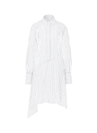 Main View - Click To Enlarge - JW Anderson - Stripe patchwork shirt dress
