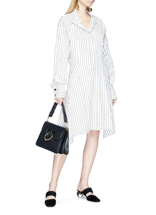 Figure View - Click To Enlarge - JW Anderson - Stripe patchwork shirt dress
