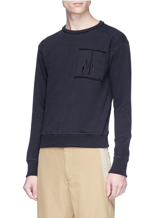 Detail View - Click To Enlarge - JW Anderson - Logo embroidered unisex sweatshirt