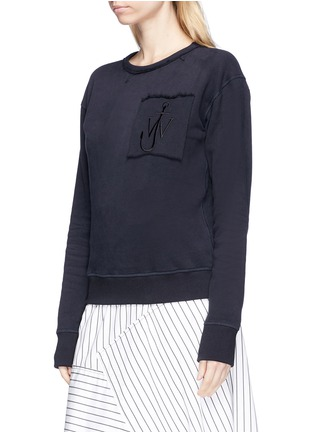 Front View - Click To Enlarge - JW Anderson - Logo embroidered unisex sweatshirt