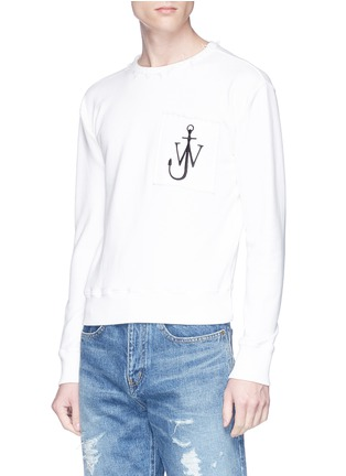 Detail View - Click To Enlarge - JW Anderson - Logo embroidered sweatshirt