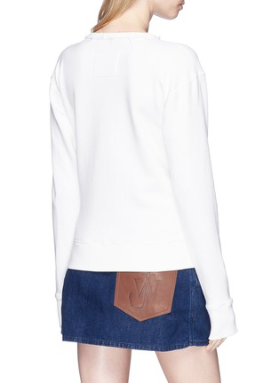 Back View - Click To Enlarge - JW Anderson - Logo embroidered sweatshirt