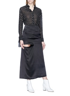 JW Anderson Cutout silk satin maxi skirt