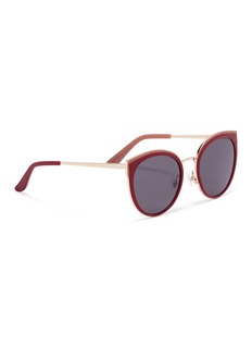 Stephane + Christian 'Terra' acetate rim metal round sunglasses