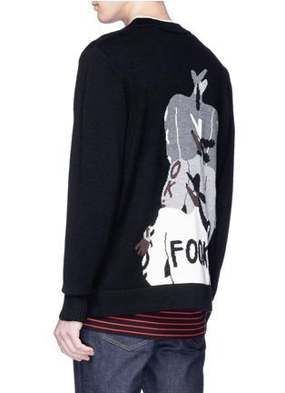 - Egle Zvirblyte x Lane Crawford - 'Fook Dog' intarsia unisex wool cardigan
