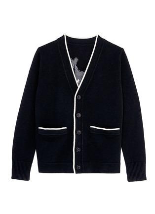 Main View - Click To Enlarge - Egle Zvirblyte x Lane Crawford - 'Fook Dog' intarsia unisex wool cardigan