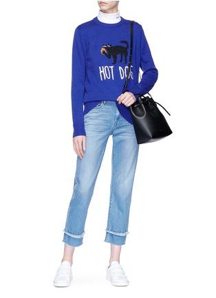 Detail View - Click To Enlarge - Egle Zvirblyte x Lane Crawford - 'Hot Dog' unisex wool sweater