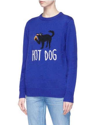 Front View - Click To Enlarge - Egle Zvirblyte x Lane Crawford - 'Hot Dog' unisex wool sweater