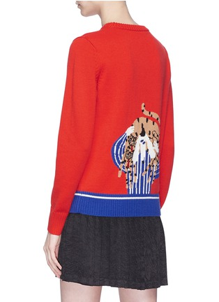 Back View - Click To Enlarge - Egle Zvirblyte x Lane Crawford - Graphic intarsia unisex wool sweater