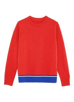 Main View - Click To Enlarge - Egle Zvirblyte x Lane Crawford - Graphic intarsia unisex wool sweater