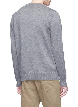 - Egle Zvirblyte x Lane Crawford - 'Wanted' dog intarsia unisex wool sweater