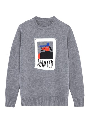 Main View - Click To Enlarge - Egle Zvirblyte x Lane Crawford - 'Wanted' dog intarsia unisex wool sweater