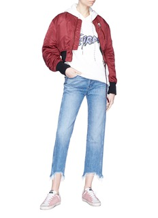 3x1 'W4 Shelter Austin' frayed cuff cropped jeans