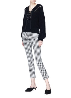 Theory Gingham check cropped skinny pants