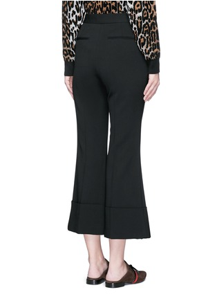 Back View - Click To Enlarge - Stella McCartney - Flared cuff cropped wool crepe pants