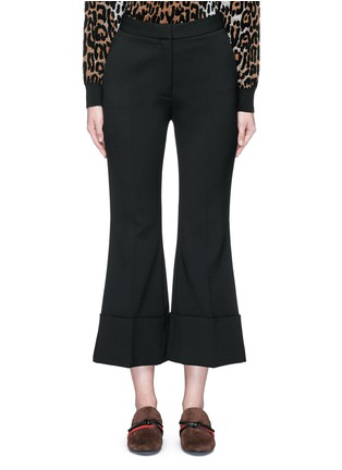 Main View - Click To Enlarge - Stella McCartney - Flared cuff cropped wool crepe pants