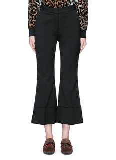 Stella McCartney Flared cuff cropped wool crepe pants