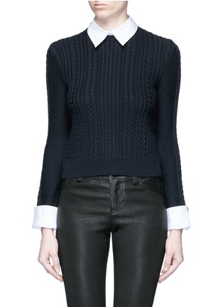 Main View - Click To Enlarge - alice + olivia - 'Gila' cable knit sweater