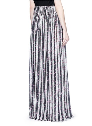 Back View - Click To Enlarge - Lanvin - Stripe floral print silk maxi skirt