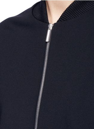 Detail View - Click To Enlarge - The Row - 'Scotia' scuba jersey bomber jacket