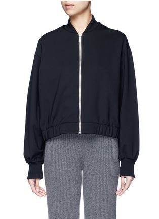 Main View - Click To Enlarge - The Row - 'Scotia' scuba jersey bomber jacket