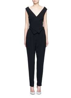 LANVINBuckled waist tailored suiting jumpsuit