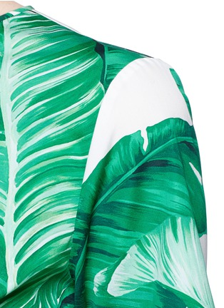 Detail View - Click To Enlarge - Dolce & Gabbana - Banana leaf print poplin top