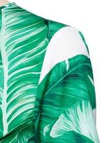 Banana leaf print poplin top